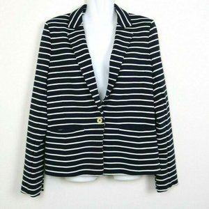 Michael Kors Womens Blazer Long Sleeve Striped 8